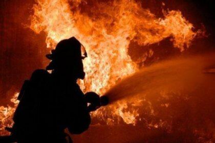 В Ферганской области произошел пожар в пункте приема хлопка