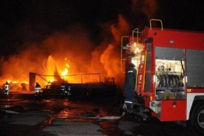 В Намангане на газозаправочной станции вспыхнул пожар